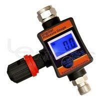 1/4 Air Adjusting Valve Regulator with Digital Pressure Gauge for Spray Guns and Pneumatic Tools