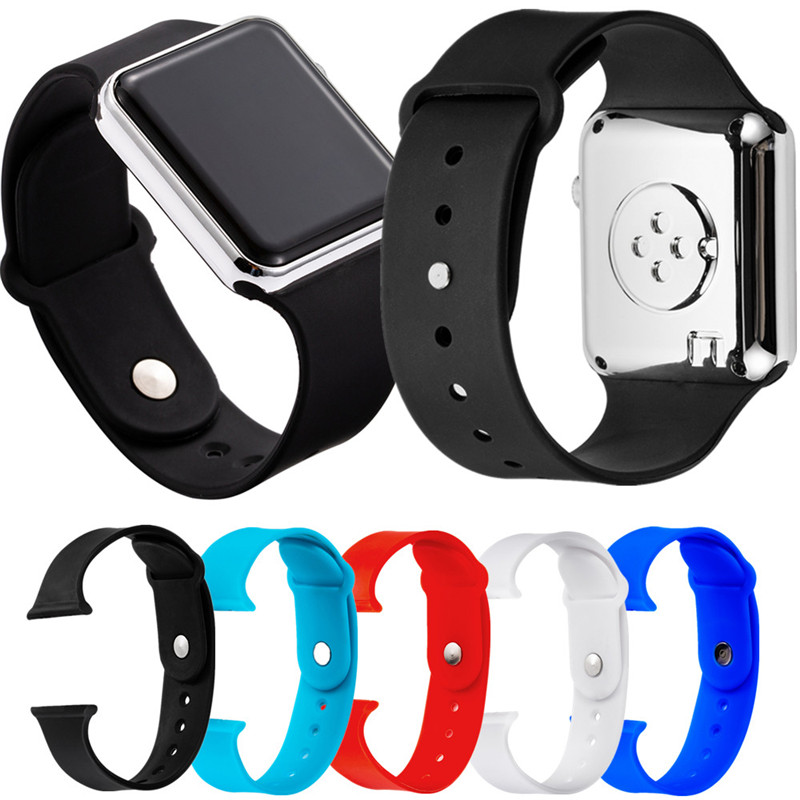 Wristband Silicone Strap For LED Digital Wrist Watch Custom Strap Band For LED Watch