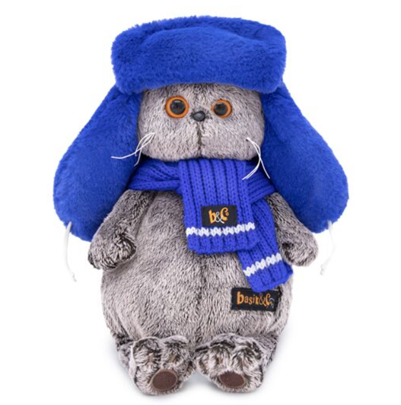 Soft toy Budi Basa Basik cat Basik буди bass in fur hat, 25 cm