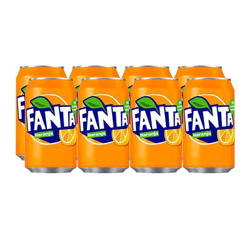 Orange Fanta tin pack 8x33cl