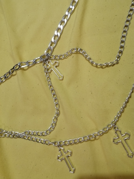 Chain Necklaces with Hollow Cross Pendants photo review