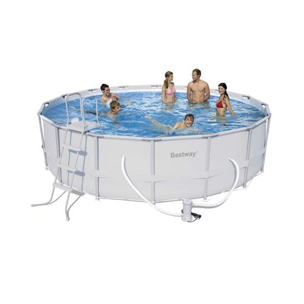 Round Pool With Sewage Metallic Structure Ø 488x122 Cm.