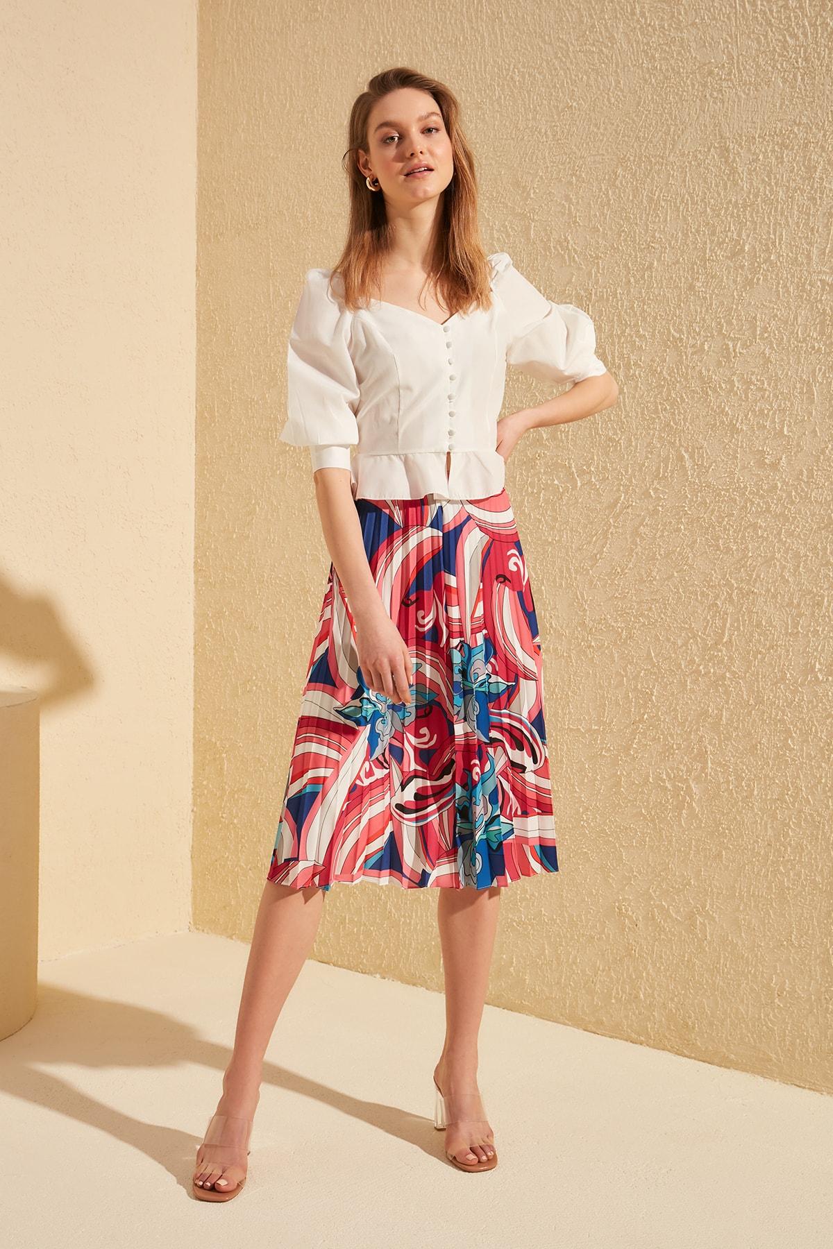 Trendyol Piliseli Skirt TWOSS20ET0078