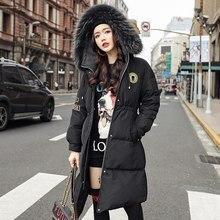 100% Trắng Vịt Xuống Thời Trang Pike Gió Xuống Áo Khoác Eo Được Mỏng Phiên Bản Hàn Quốc Của Tự Nhiên Cổ Lông Nữ xuống Áo Khoác