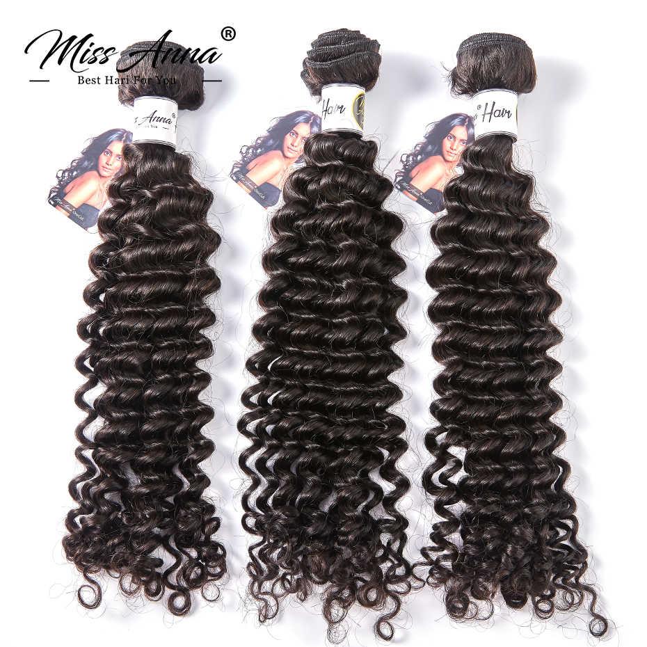 8-34 36 38 inç brezilyalı İnsan saç paketler derin dalga saç dokuma doğal renk Remy insan saç uzatma 1/3/4 adet ücretsiz kargo