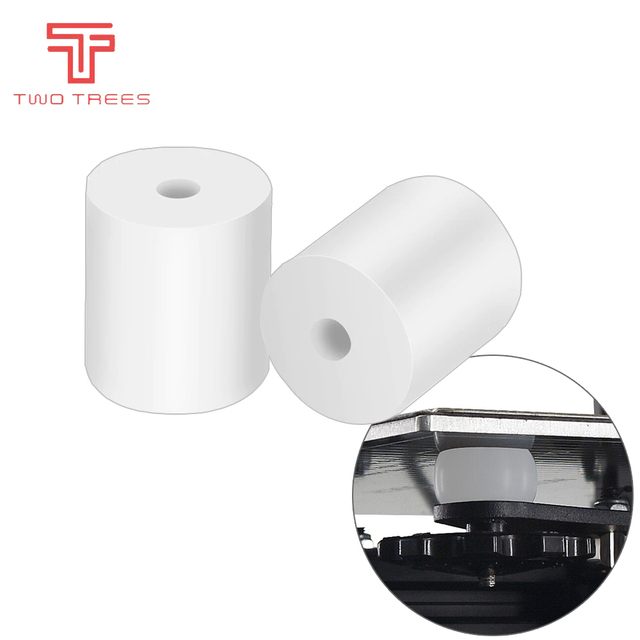 High Temperature Silicone Solid Spacer Hot Bed Leveling Column  For CR-10 CR10S Ender-3 PRO Prusa I3  3D Printer Parts 2