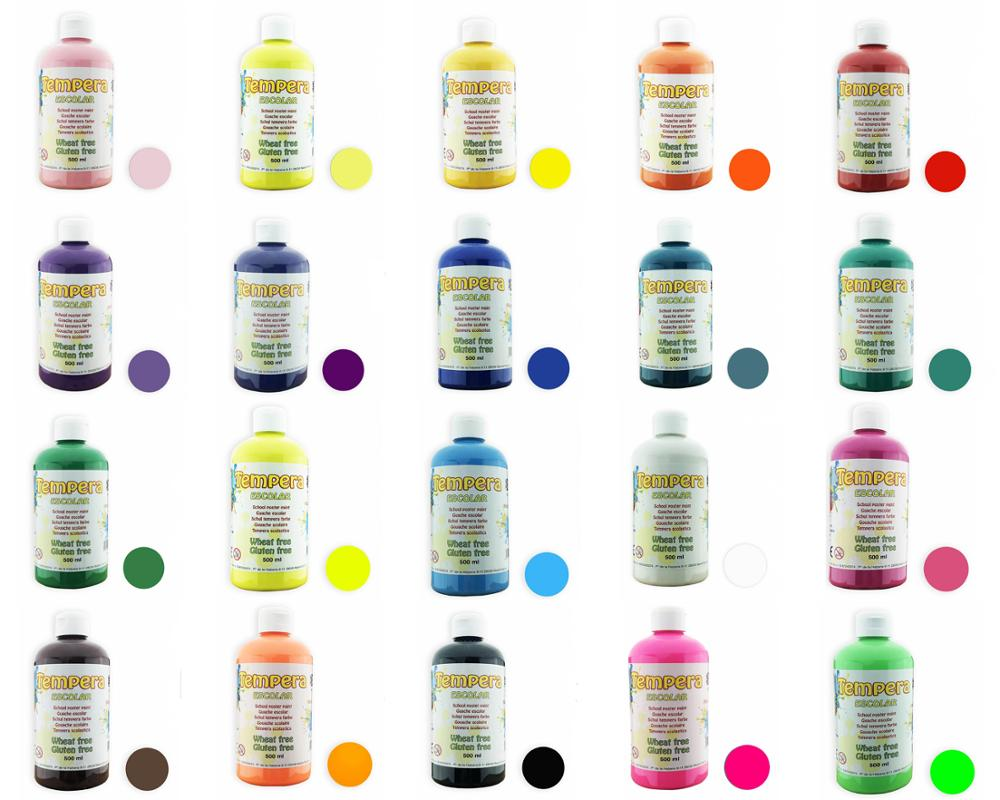 500ml Liquid Tempera Paint Painting For Kids School Gouache Colors