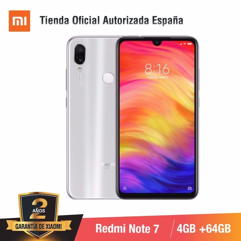 Global Version For Spain] Xiaomi Redmi Note 7 (Memoria Interna De 64GB, RAM De 4GB,Camara Dual Trasera De 48 MP)