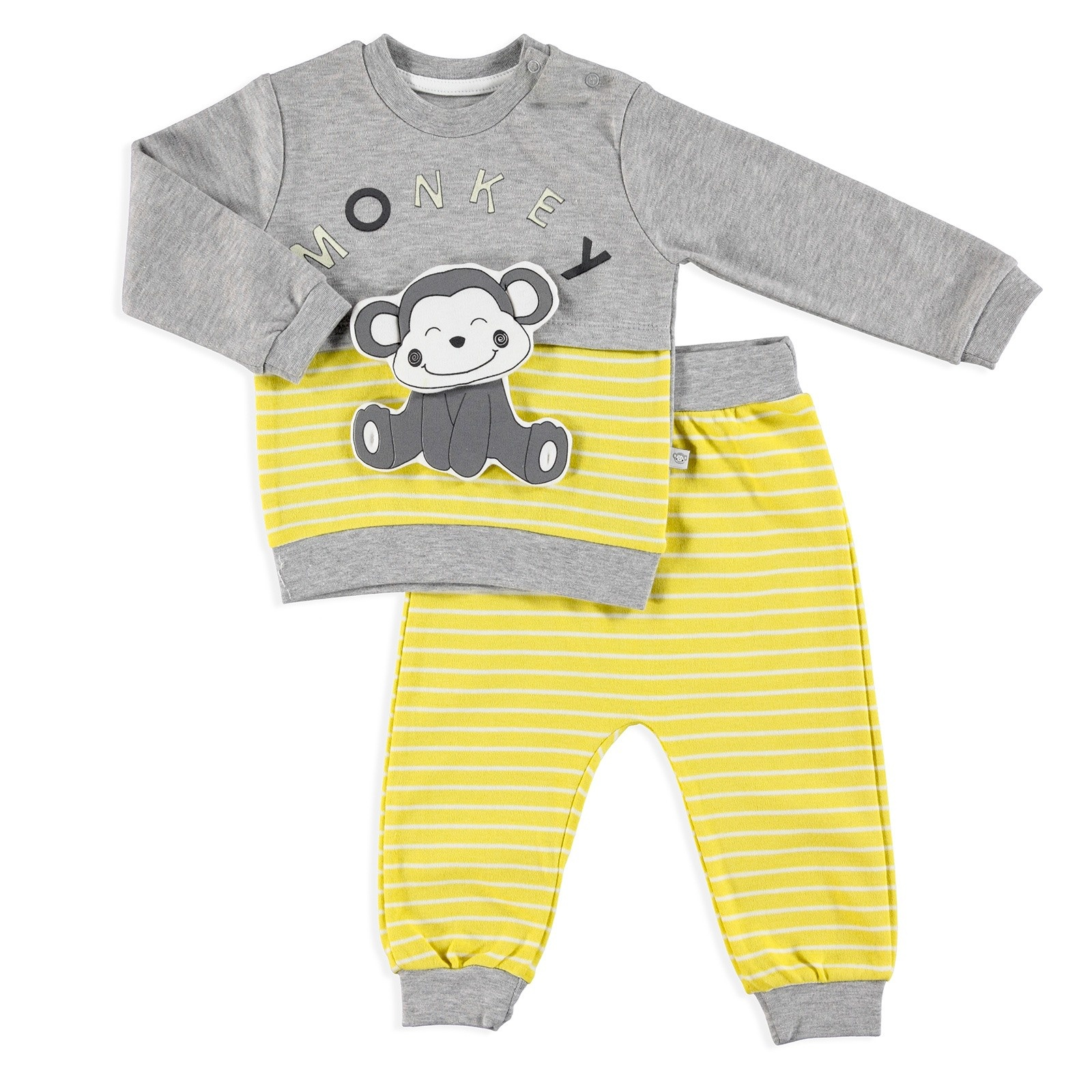 Ebebek Mymio Fun Monkey Baby Sweatshirt Trousers Set