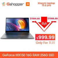 Xiaomi ordinateur portable Pro 15.6 Intel Core I7 16G ram 256GB ssd Windows 10 2G DDR4 2400 1920x1080 reconnaissance d'empreintes digitales