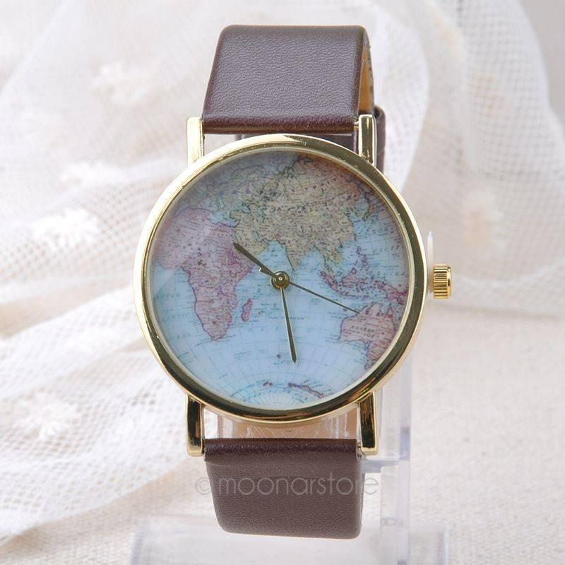 Watch World Map Bracelet