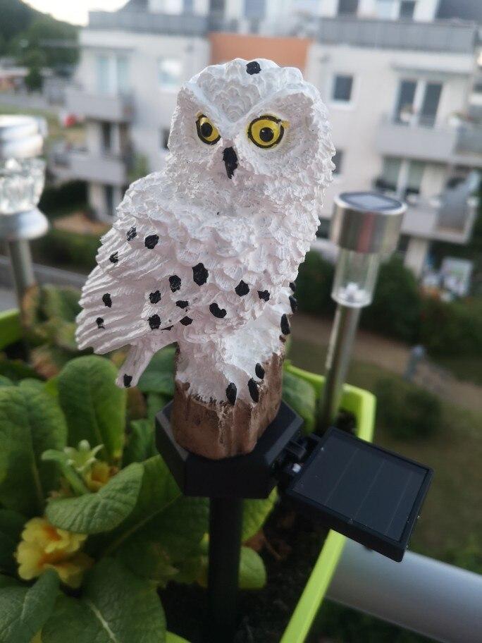 Led Solar Power Outdoor Garden Waterproof Owl Stake Lawn Light Exterior Night Lights Owl Shape Solar Powered Energia Lamp xiaomi