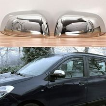 Chrome rear view enclosures for Dacia Dokker from 2012 stainless steel