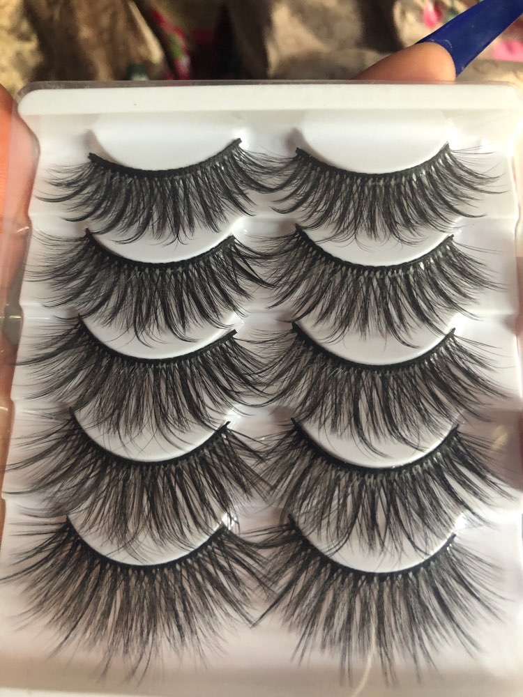 Mink Natural Thick Fake Eyelashes (5 Pairs) photo review