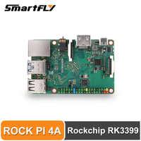ROCK PI 4A V1.4 Rockchip RK3399 ARM Cortex seis core SBC/ordenadores de placa única Compatible con Raspberry Pi pantalla