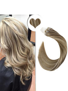 Hair-Extensions Human-Hair Micro-Ring Straight Michine Remy 14-24inch 1g/Strand