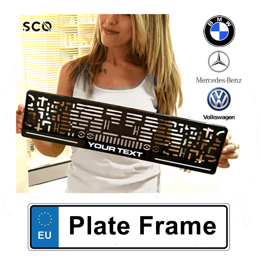 Custom License Plate Frame Car Accessories Plate Holder Auto Number Frame Car Sticker Audi A3 golf 5 focus bmw e46 e60 e90 b6
