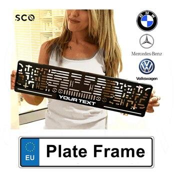 Custom License Plate Frame Car Accessories Plate Holder Auto Number Frame Car Sticker Audi A3 golf 5 focus bmw e46 e60 e90 b6
