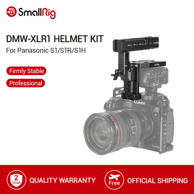 SmallRig DMW XLR1 Helmet Kit For Panasonic S1/S1R and GH5/GH5S Camera Cage Top Handle Kit With Cold Shoe/Nato Rail  2367