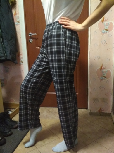 Plaid Oversize Pants E-boy E-girl photo review