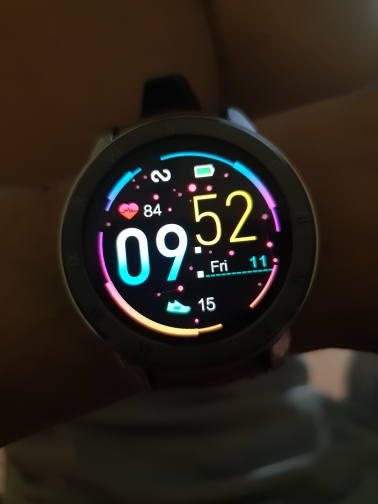LEMFO ELF2 PPG + ECG Smart Watch 1.3 Inch Full Round Touch Screen 360*360 HD Resolution Stainless Steel Case Strap Replaceable-in Smart Watches from Consumer Electronics on AliExpress