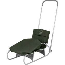 Folding sled Demi, gray/khaki