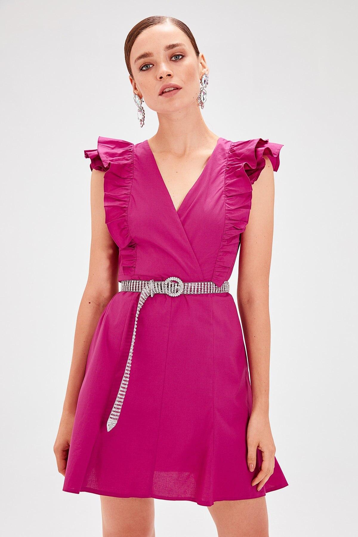 Trendyol Ruffle Detail Dress TPRSS19UT0033
