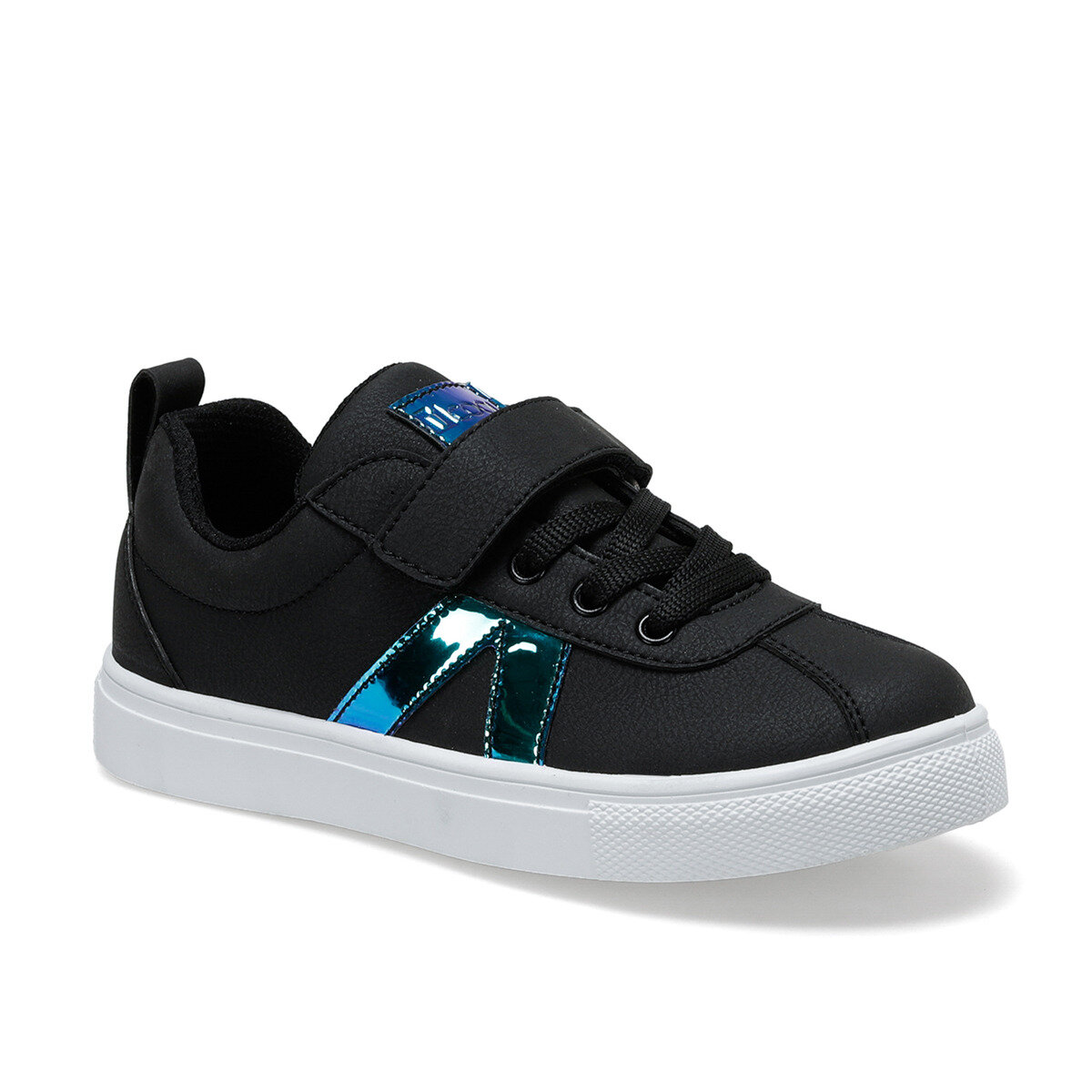 FLO VERDE Black Female Child Sneaker Shoes I-Cool