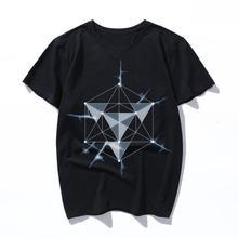 Легкая Повседневная футболка с геометрическим рисунком женские