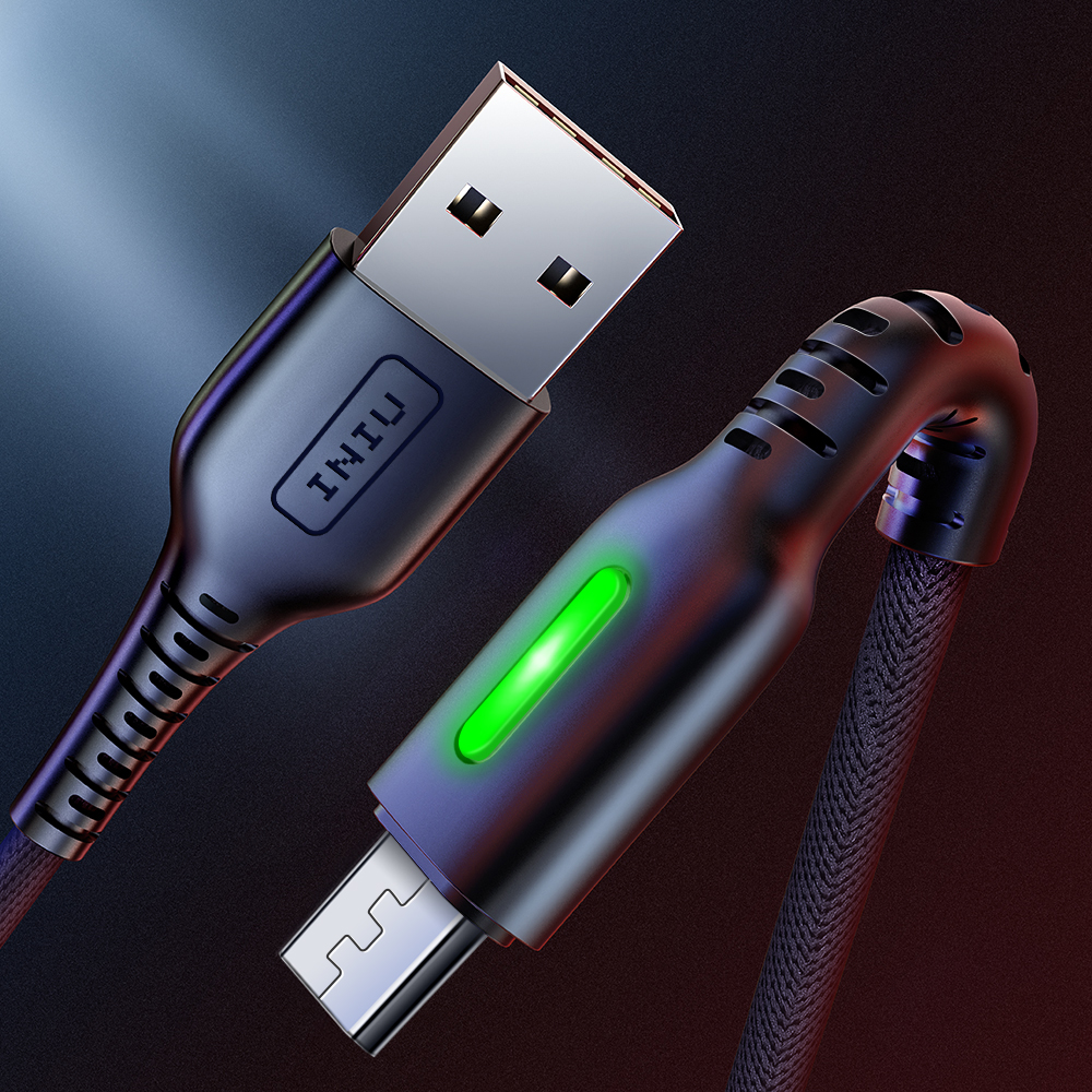INIU 3m LED Micro USB Cable Charger Microusb Fast Charging For Samsung Xiaomi Redmi Andriod