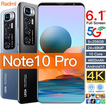 """Smart phone Note10 Pro 6GB 128GB 5G Smartphone 6.1"""" MTK 6763 10 core 4g network Mobile Phones Android 10.0 4800mAh CellPhone"""