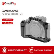SmallRig carcasa de camara DSLR para Canon EOS M50/M5, soporte de zapata fría con riel Nato para fijación de liberación rápida 2168