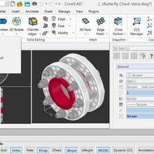 CorelCAD 2021 Full Version for Windows for 2D drawing, 3D design, and 3D printing
