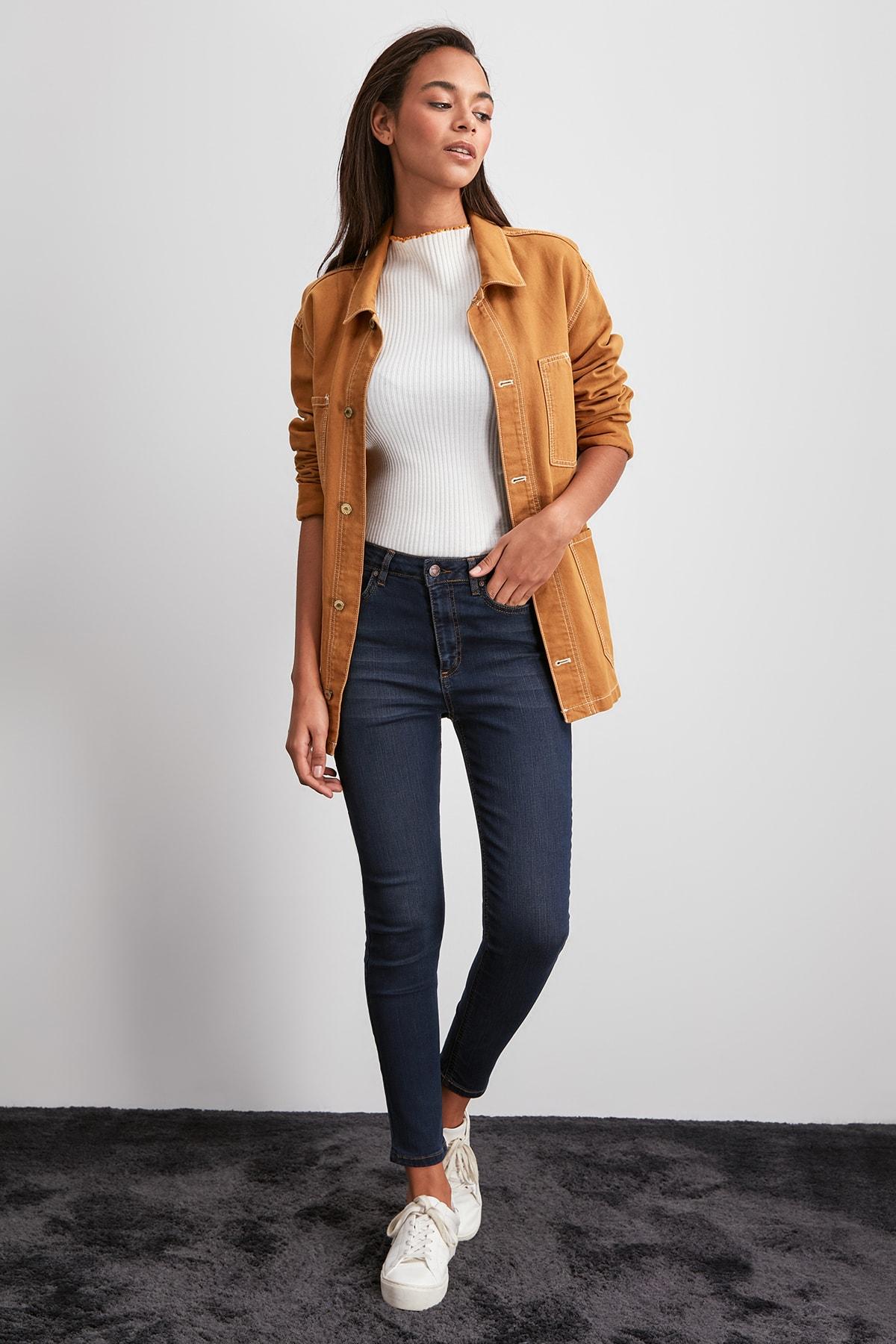 Trendyol High Waist Skinny Jeans TWOAW20JE0377