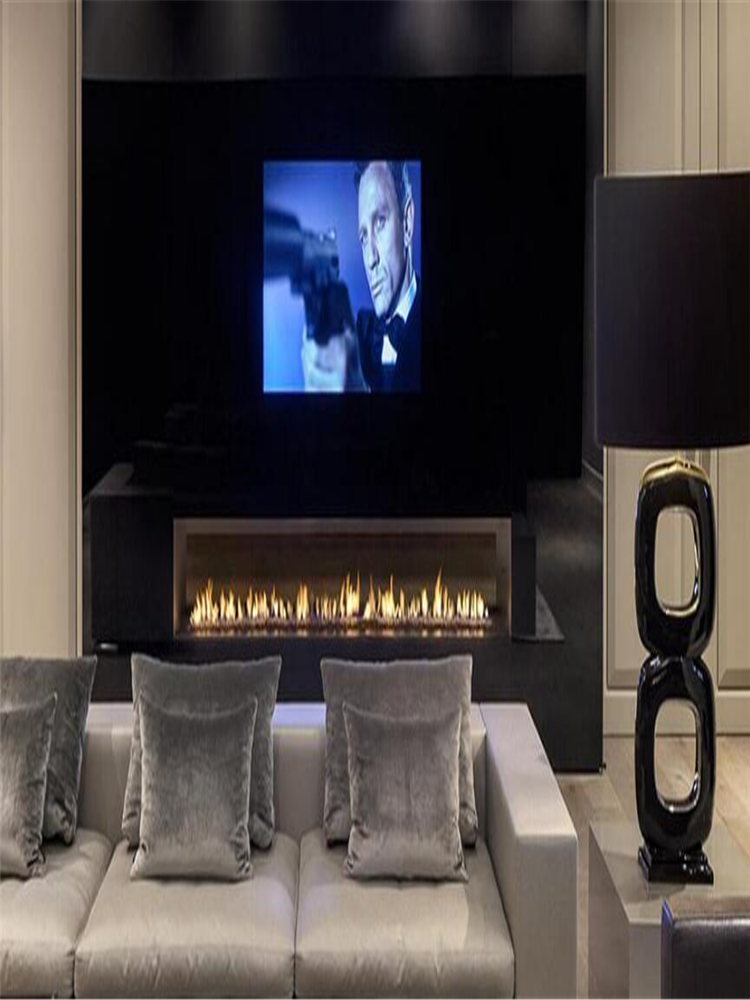 72  Inch Real Fire Intelligent Smart Automatic Eco Smart Ethanol Fireplace