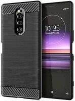 Case Sony Xperia 1 color Black (Black), carbon series, caseport