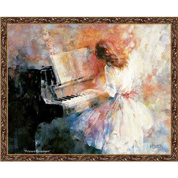 "Pintura sobre lienzo, ""romantic rhythm"", 80x60 cm, artista Willem haenraets, reproducción de pintura ""Russian collection"", guanthair-dag25"