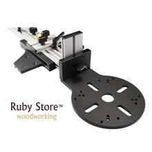 W-nova base de trilho de guia de roteador para cortes retos e circulares, ferramenta para trabalhar madeira, carpintaria