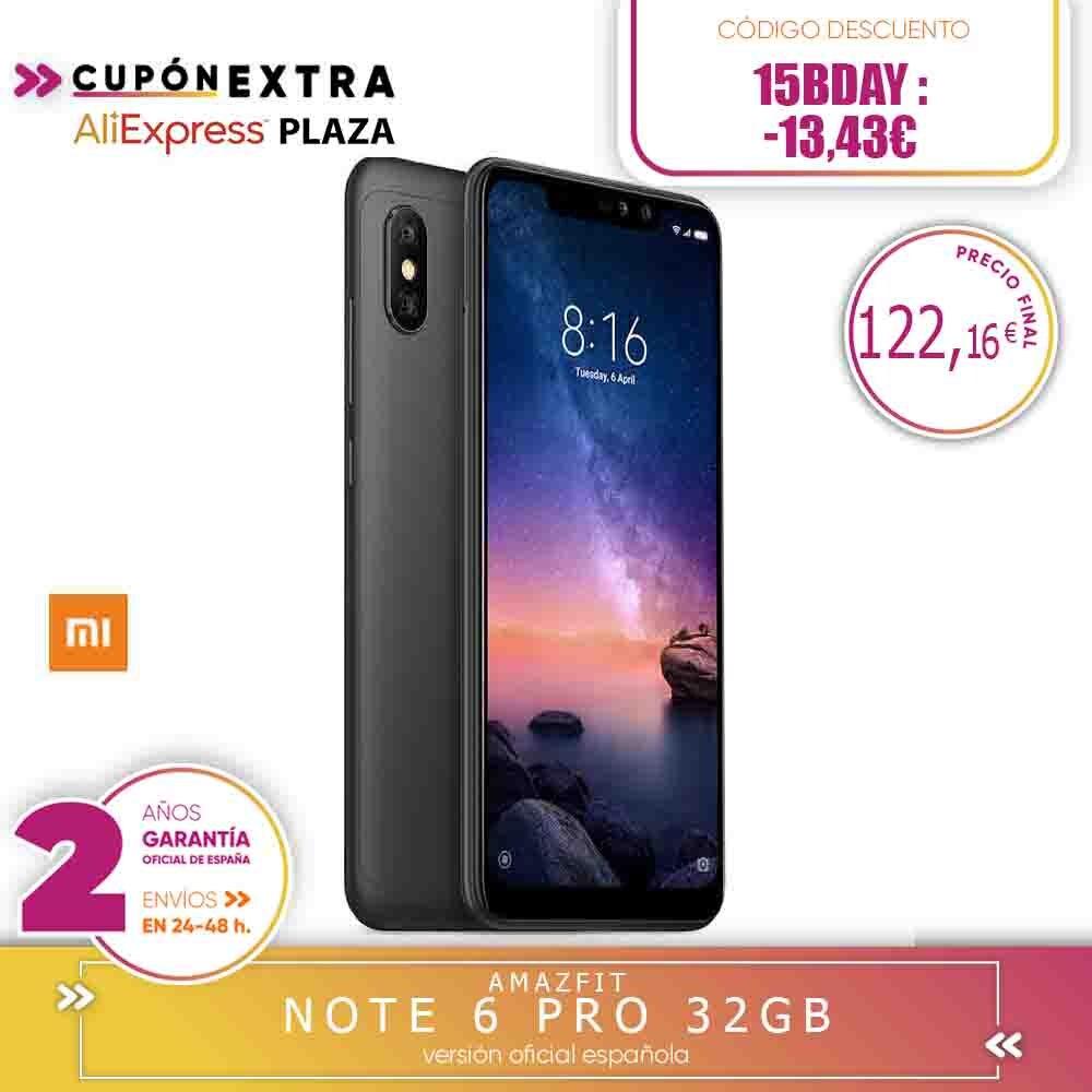 "[Official Spanish Version Warranty] Xiaomi Note Redmi 6 Pro Smartphones 6.26 ""Screen Notched 3 Hard Gb 32 Hard Gb, Dual SIM"