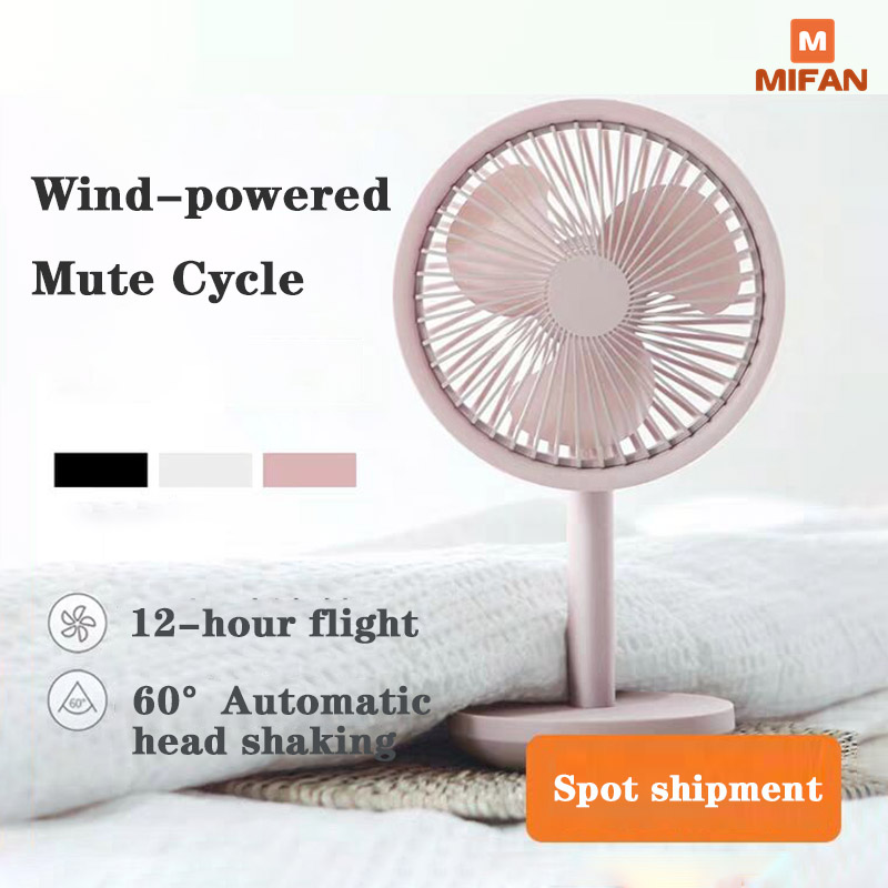 Solove F5 Desktop Fan Left And Right 60� Shaking Head 4000mAh Battery Capacity USB Charging 3 Modes Wind Speed Portable