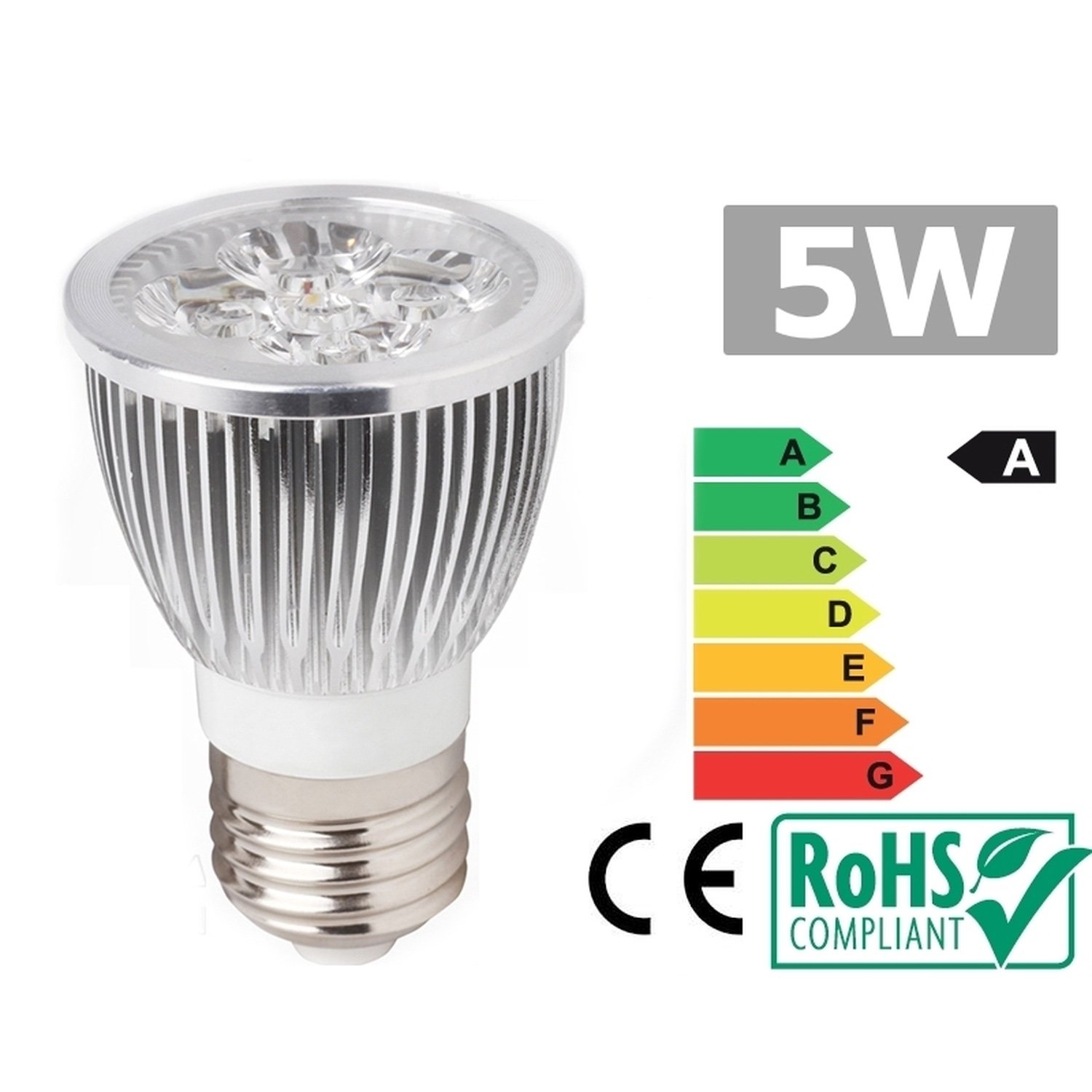 Led Spotlight E27 5W 3300K warm white