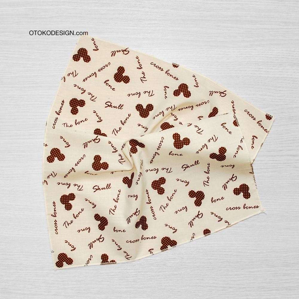 Pocket Square In Jacket Pocket Cream Mickey Mouse (51825)
