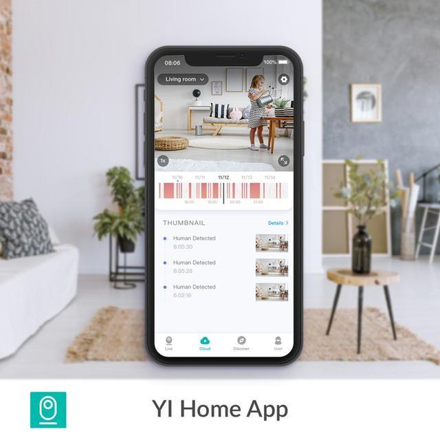 YI Dome Guard Camera 1080p Wifi Camera Human Pet AI Webcam Ip Camera Security Home Indoor Cam Pan & Tilt 360 video recorder cam 3