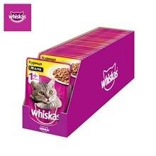 Влажный корм для кошек Whiskas желе с курицей, 28 шт по 85г