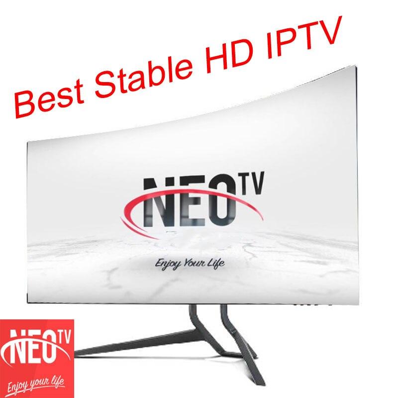 IPTV Subscrição da França neo tv pro para android caixa de tv 1600 Ao Vivo Vod IPTV Canal Árabe Espanhol Francês Bélgica M3U Código 1 ano
