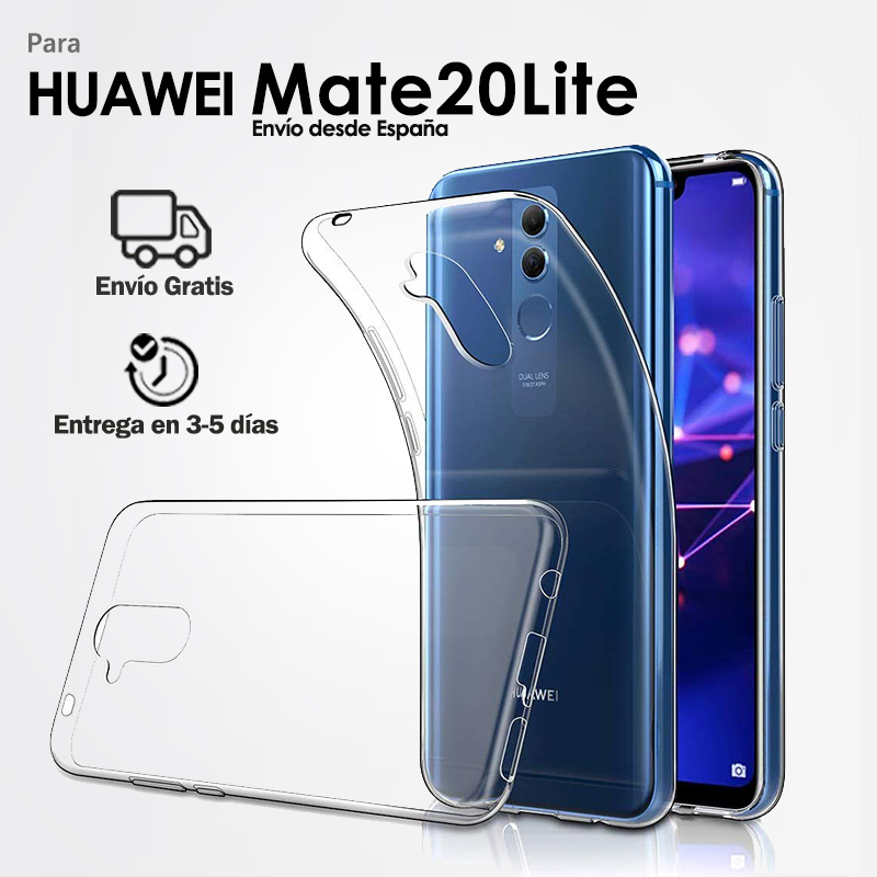 TPU Gel Case Silicone Case for Mobile <font><b>Huawei</b></font> <font><b>Mate</b></font> <font><b>20</b></font> <font><b>Lite</b></font> Back Cover Transparent Ultra Slim Soft for <font><b>Smartphone</b></font> image