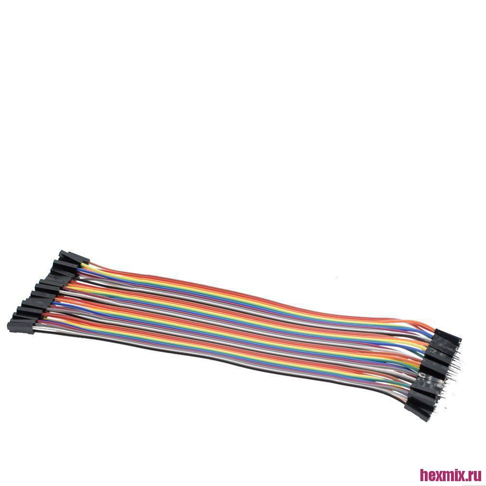TK0838 DuPont Flat Cable Assembly 40-линий M-M/F-F/M-F (Type A Connector Mom Dad)