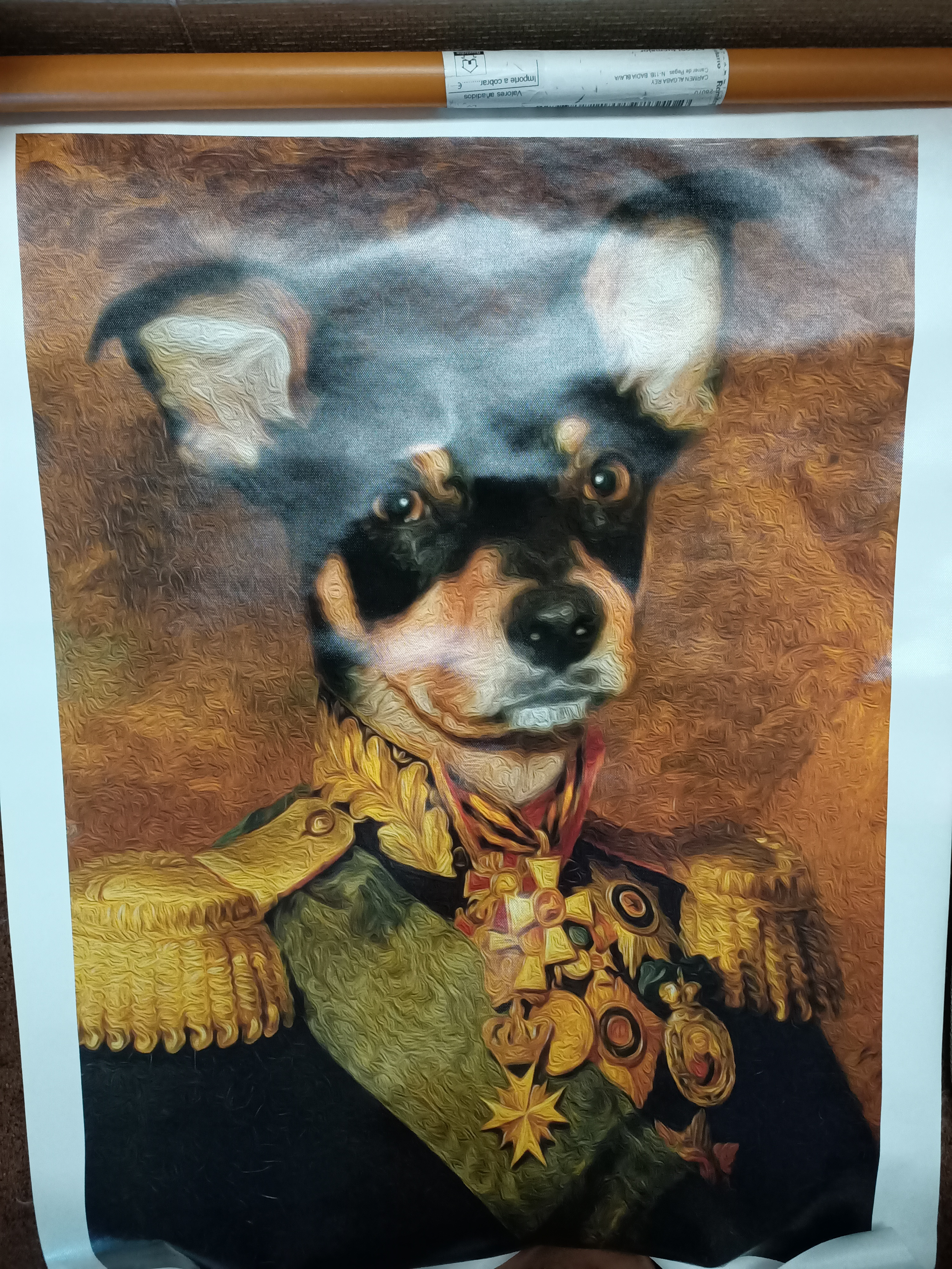 Customisable Pet Canvas Wall Art photo review