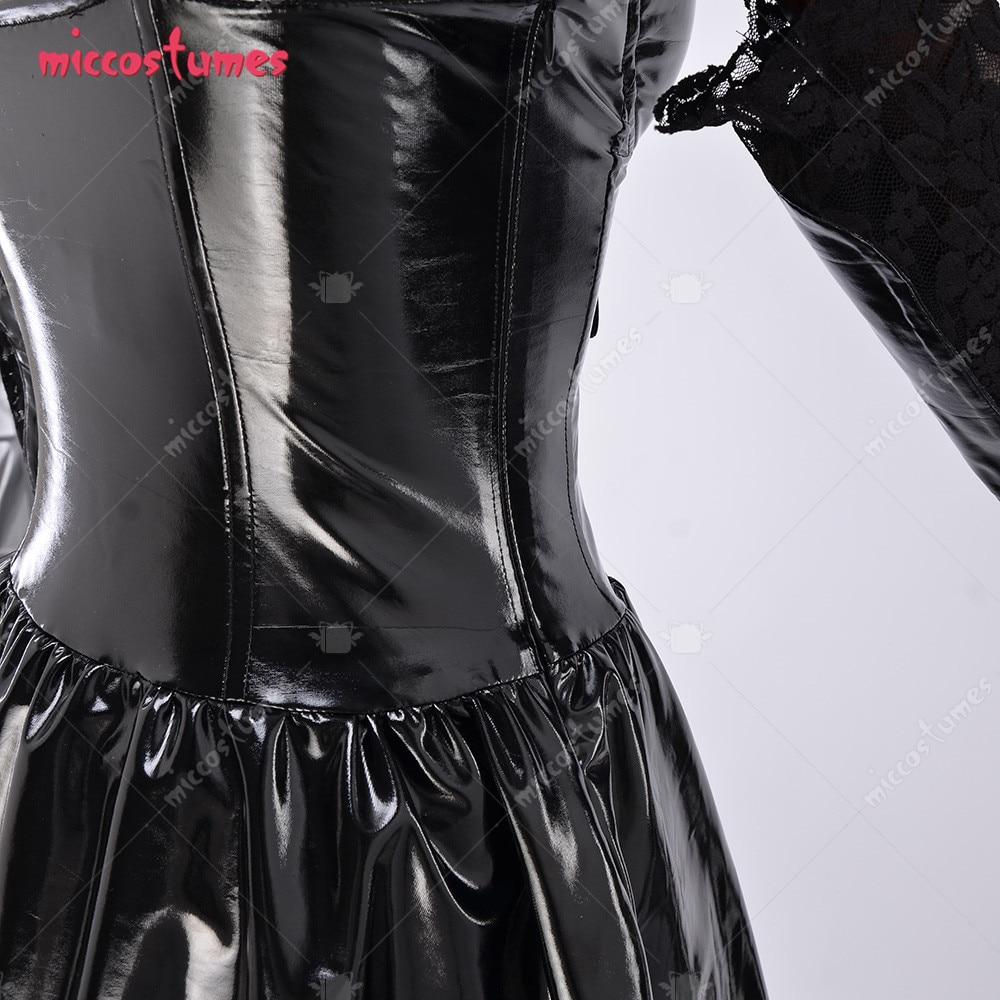 Amane Misa Dark Gothic Cosplay Women Halloween Costume Dress with Stockings