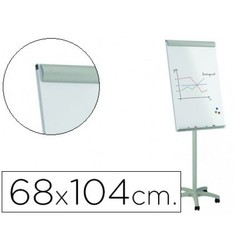 WHITEBOARD ROCADA CONFERENCE METAL MAGNETIC WITH WHEELS 68X104 CM